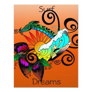 Surf Dreams Orange Card