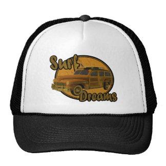 surf dreams woodie wagon brown trucker hat