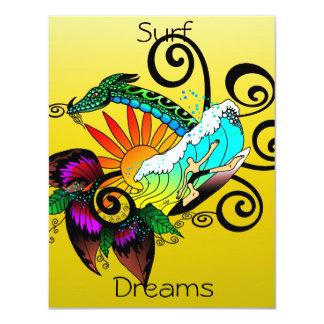 Surf Dreams Yellow Card