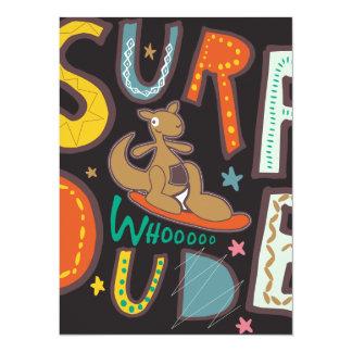 Surf  Dude Custom Invitations