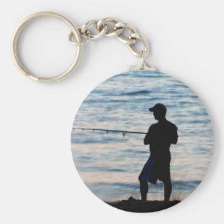 Surf Fishing At Dusk 6 Keychain