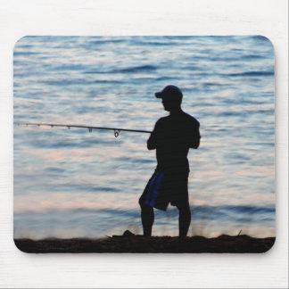Surf Fishing At Dusk 6 Mousepad