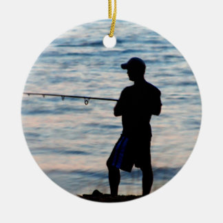 Surf Fishing At Dusk 6 Ornament