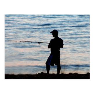 Surf Fishing At Dusk 6 Postcard