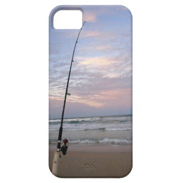 Beach Themed Surf Fishing Beach Scene iPhone SE/5/5s Case