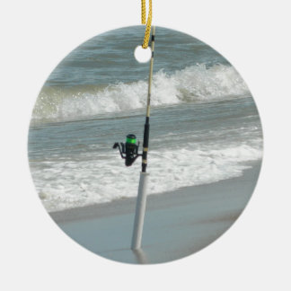 Surf Fishing Ceramic Ornament