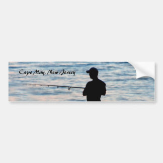 Surf Fishing In Cape May At Dusk 6 Bumper Sticker