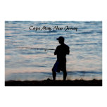 Surf Fishing In Cape May At Dusk 6 Poster