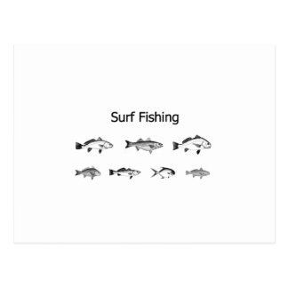 Surf Fishing Logo Postcard