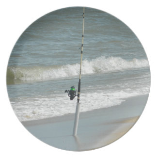 Surf Fishing Melamine Plate