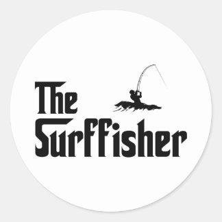 Surf Fishing Classic Round Sticker