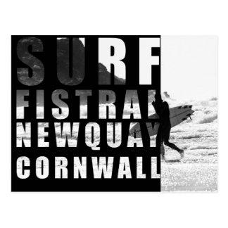 Surf, Fistral Beach, Newquay, Cornwall Postcard