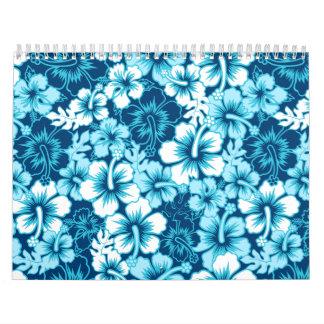 Surf floral hibiscus calendar