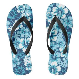 Surf Floral Hibiscus Pattern Flip Flops