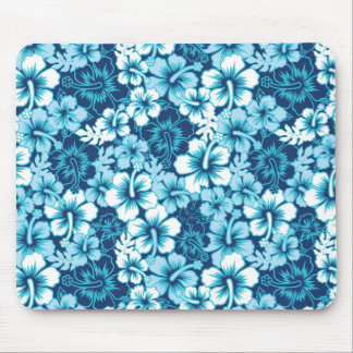Surf Floral Hibiscus Pattern Mouse Pad