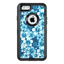 Surf Floral Hibiscus Pattern OtterBox Defender iPhone Case