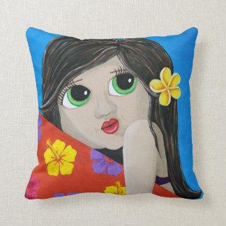 Surf Flower Throw Pillow