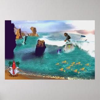 Surf Fun surfing poster