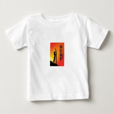 Beach Themed surf girl baby T-Shirt