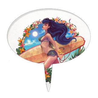 surf_girl cake topper
