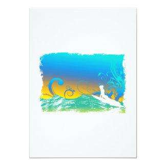 Surf Girl Card