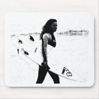 Surf Girl Mouse Pad