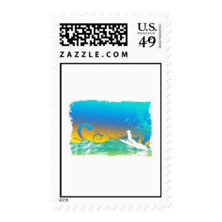 Surf Girl Stamp