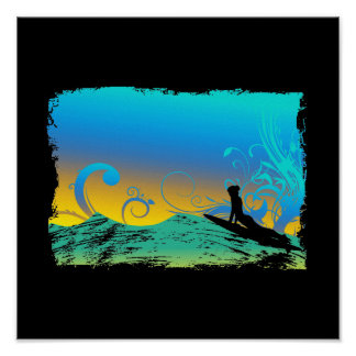Surf Girl Posters