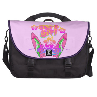 Surf Girl Surfing Laptop Bags