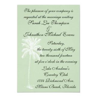 "Surf Green Beach Getaway Invitation 5 x 7 5"" X 7"" Invitation Card"
