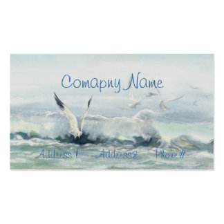 SURF GULLS & SEA by SHARON SHARPE Double-Sided Standard Business Cards (Pack Of 100)