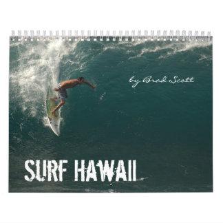 Surf Hawaii, by Brad Scott Wall Calendars