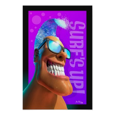 Art Themed Surf Heads - Surf's Up! Poster