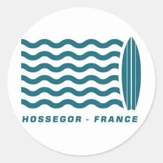 Surf Hossegor France Classic Round Sticker