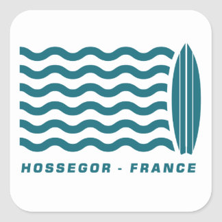 Surf Hossegor France Square Sticker