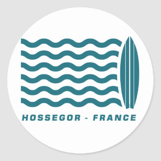 Surf Hossegor France Classic Round Sticker