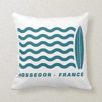 Surf Hossegor France Throw Pillow