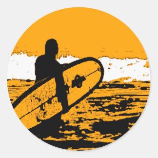 Surf III Classic Round Sticker