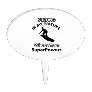surf in my nature what is your superpower? cake toppers
