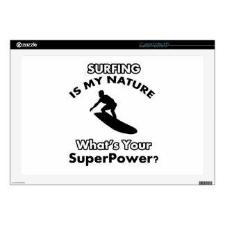 surf in my nature what is your superpower? laptop decals