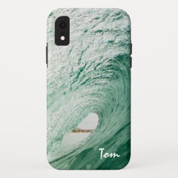 Surf Iphone XR Cases Design Custom Name Waves