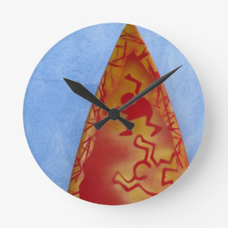 Surf is up round wallclock