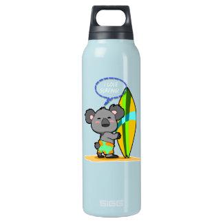 Surf Koala Bear Insulated Water Bottle