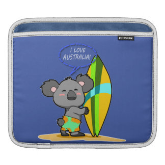 Surf Koala Bear iPad Sleeve