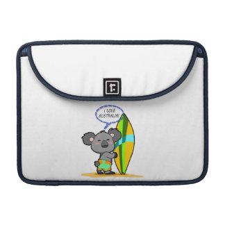 Surf Koala Bear MacBook Sleeve MacBook Pro Sleeves