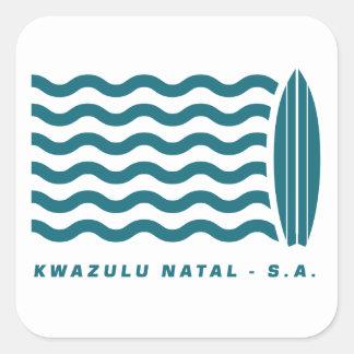 Surf Kwazulu Natal Square Sticker