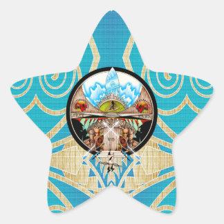 Surf Land Star Sticker