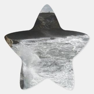 Surf Landscape Star Sticker