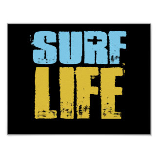 Surf Life Beach Surfer Style Poster