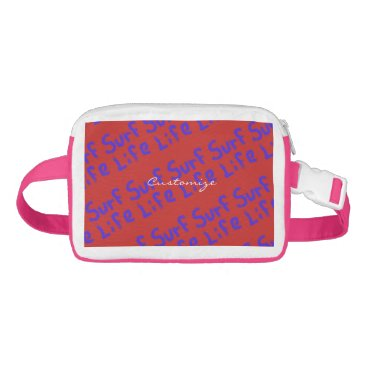 Beach Themed surf life Thunder_Cove blue beach Waist Bag